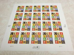 #4335 CELEBRATE Sheet of 20 42 Cent Postage Stamps MNH 2007/2008 Free Shipping