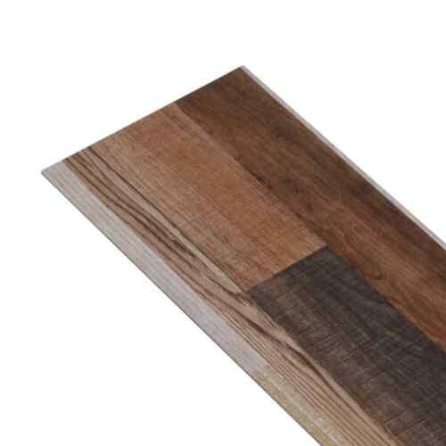 vidaXL PVC Laminat Dielen 5,02m² 2mm Selbstklebend Mehrfarbig Vinyl Bodenbelag