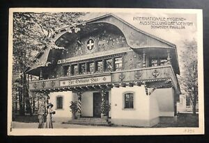1911 Dresden Germany RPPC Postcard Cover to Konstanz Perdón Stamp Hygiene Fair