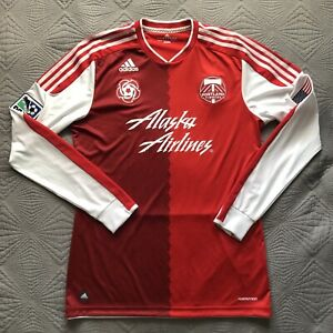 size 40 68b83 a27be Details about Portland Timbers Long Sleeve Retro Jersey Sz Mens Large