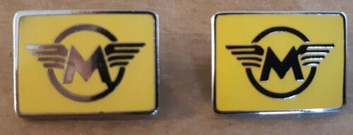 """Lapel Pin /""""M/"""" Matchless Motorcycle RHPS Yellow Enamel Badge"""