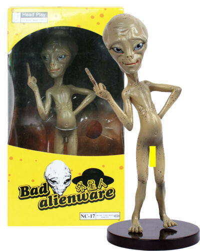 "Head Play Bad Alienware /""PAUL/"" Comedy Movie Figure Middle Finger 22cm Figurine"
