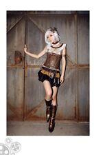 RQ-BL steampunk layer skirt sz S