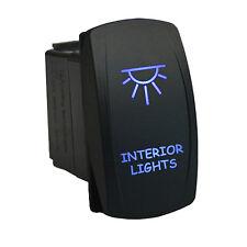Rocker Switch 636B Laser INTERIOR LIGHTS dual led BLUE 12V ATV UTV offroad 4x4