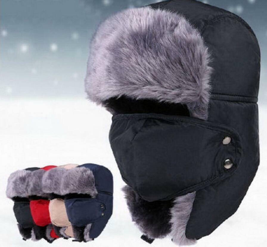 New Mens Winter Fur Ushanka Trapper Hat Aviator Earflap Ski Cap Hunting  Trooper 2 2 of 8 ... 402ba409c03