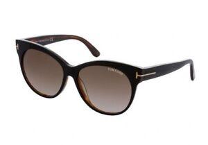 f180262dd8 Image is loading Tom-Ford-SASKIA-Sunglasses-Black-Frame-Smoke-Gradient-
