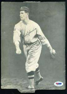 Bucky-Harris-PSA-DNA-Coa-Hand-Signed-8x10-Vintage-Photo-Autograph