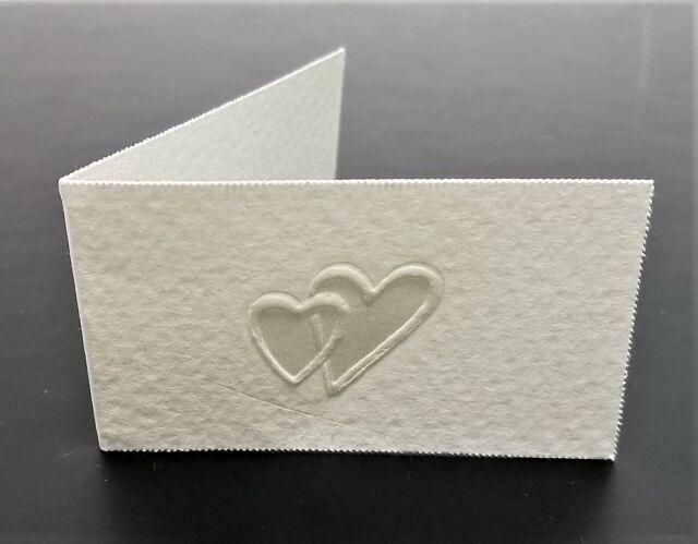 10 Bigliettini Matrimonio o Promessa Stampa Omaggio per Bomboniera 2 Cuori u