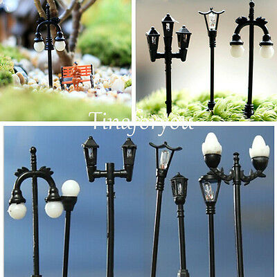 Mini Streetlights Miniature Garden Ornament for Plant Pots Fairy Garden Crafts