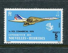 New Hebrides Fr 223, MNH. Concorde, first commercial flight, 1975 x18703