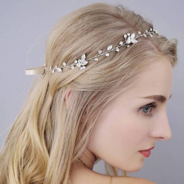 Shiny Handmade Crystal Bridal Wedding Headpiece Bride Headband Jewelry