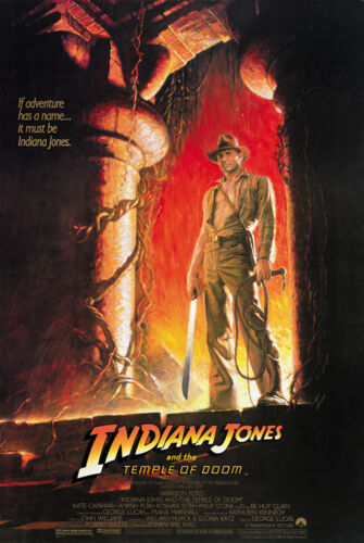 Indiana Jones and the Temple of Doom Harrison Ford movie poster 24x36 A 1984