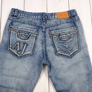 Armani-Jeans-Denim-Pants-Giorgio-Armani-Blue-Pants-Men-Size-36-x-32