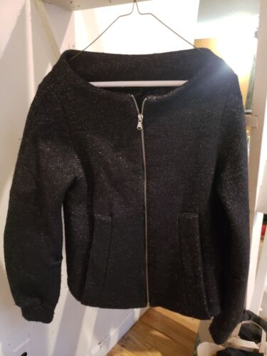Wool By Marc Black S Size Jacket Neck Boat Jacobs tTrRrgqwB
