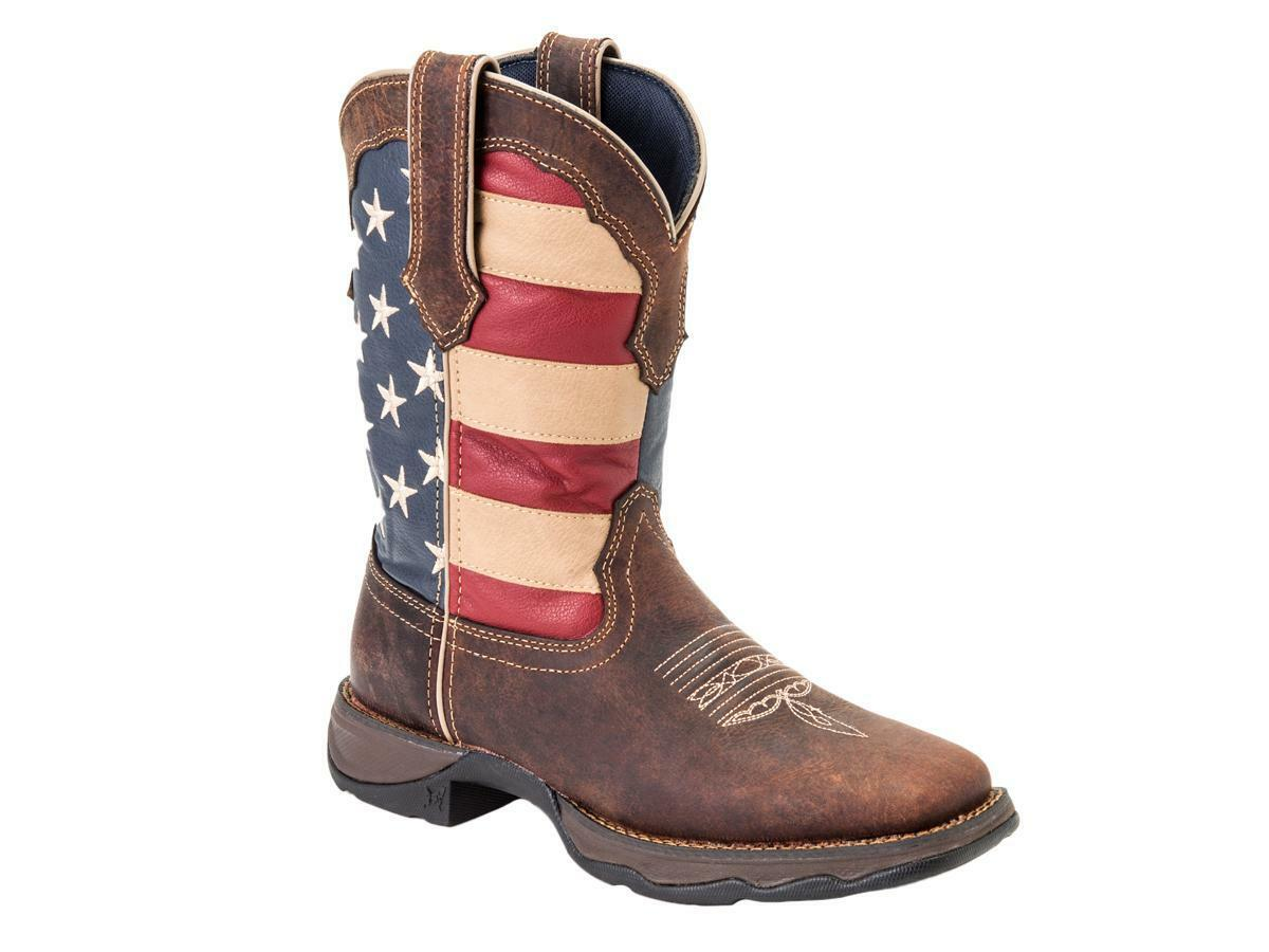 DURANGO 10   Lady Rebel Patriotic Pull-On Western R avvio   RD4414 NIB