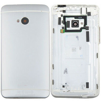 OEM Silver Battery Back Door Cover Case Housing Repacement Parts For HTC One M7