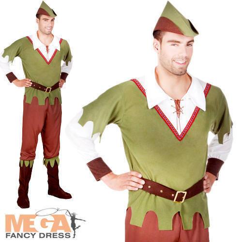 Forêt Hunter robe fantaisie homme adultes médiéval robin des bois caractère livre Costume