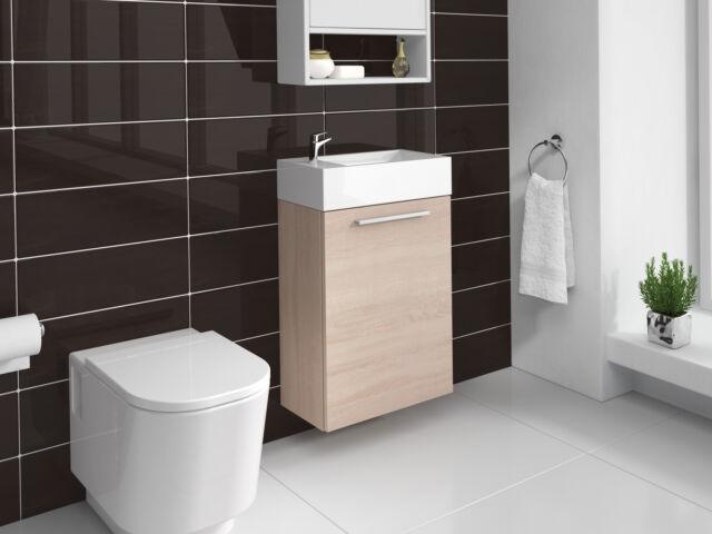Meuble de salle de bain Athene Chêne clair 40x20 cm Armoire de rangement Meuble