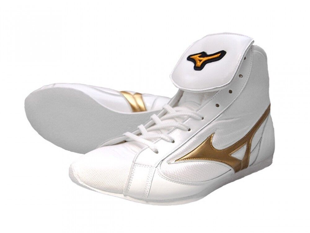 Mizuno Boxing shoes Original color White × gold  21GX181000 Made in Japan  free shipping on all orders