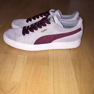 Details zu Puma Suede Classic Damen Schuhe Sneaker Grau Bordeaux Wildleder  Turnschuhe