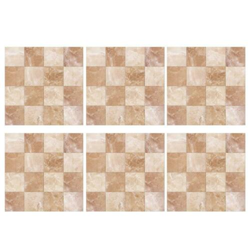 6//10//24pcs Waterproof Tiles Mosaic Wall Stickers Kitchen Bathroom Adhesive Decor
