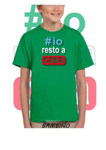 T shirt Stampata #iorestoacasa io resto a casa fallo anche tu Maglietta Bambino