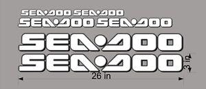 "BLACK 34/"" Vinyl Personal Watercraft Replacement Bonus Decals SEA-DOO 3D Logo"