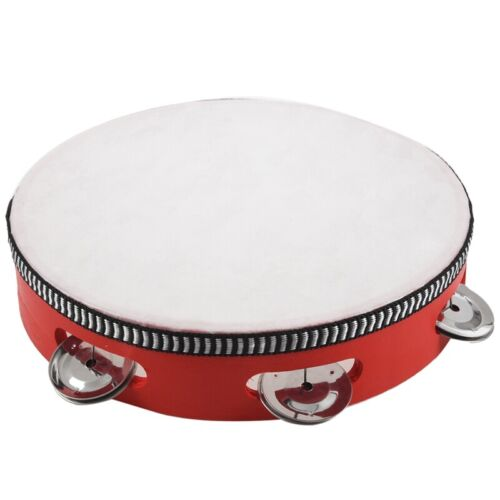 8-Zoll-Musical Tambourine Tambourine Drum Round Percussion Geschenk für KTV M6X8