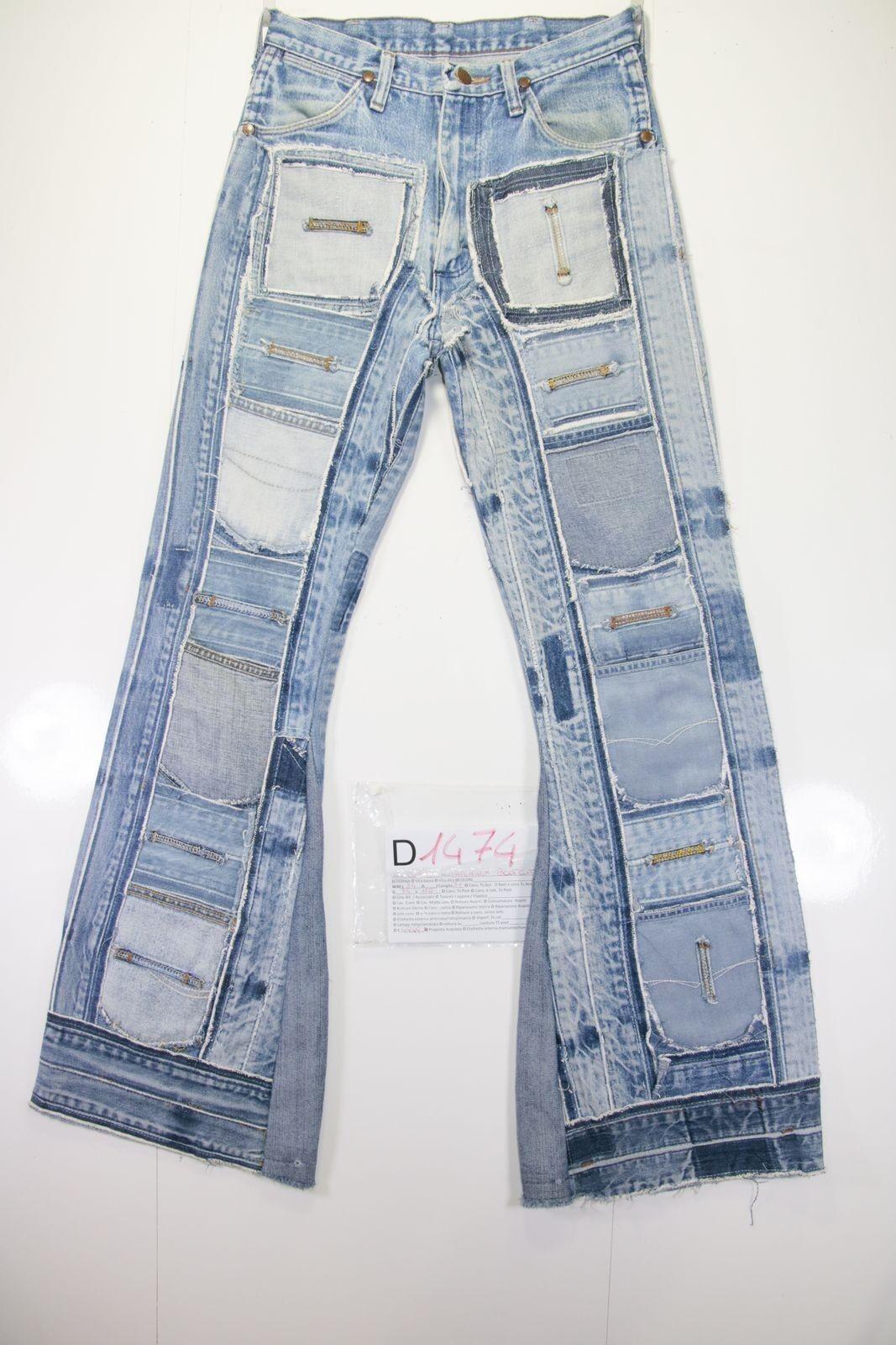 Wrangler patchwor bootcut (Cod. D1474) Tg.44  W30 L34  jeans usato vintage