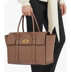 5941993deaa2 Image is loading Mulberry-Bayswater-New-Small-Classic-Grain-Leather-Handbag-