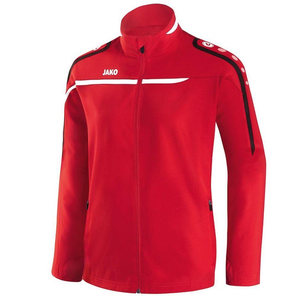 Jako Fußball Präsentationsjacke Performance Damen Jacke Frauen rot weiß schwarz