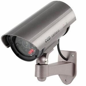 Videocamera-finta-videosorveglianza-Telecamera-sicurezza-led-lampeggiante-rosso