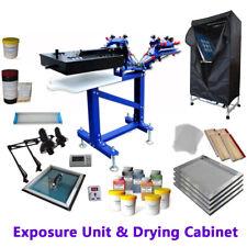 3 Color Screen Printing Materialskit Silk Screen Press Amp Exposure Flash Dryer