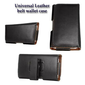 Black-PU-Leather-belt-wallet-case-holster-cover-for-IPHONE-8-7-6-6S-5-5S-5C-SE