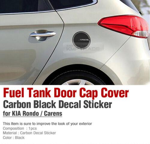 Fuel Tank Door Cap Cover Carbon Black Decal Sticker for KIA 13-18 Carens Rondo