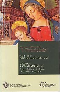coffret 2 euro commémorative 2013 il Pinturicchio - France - Rare - France