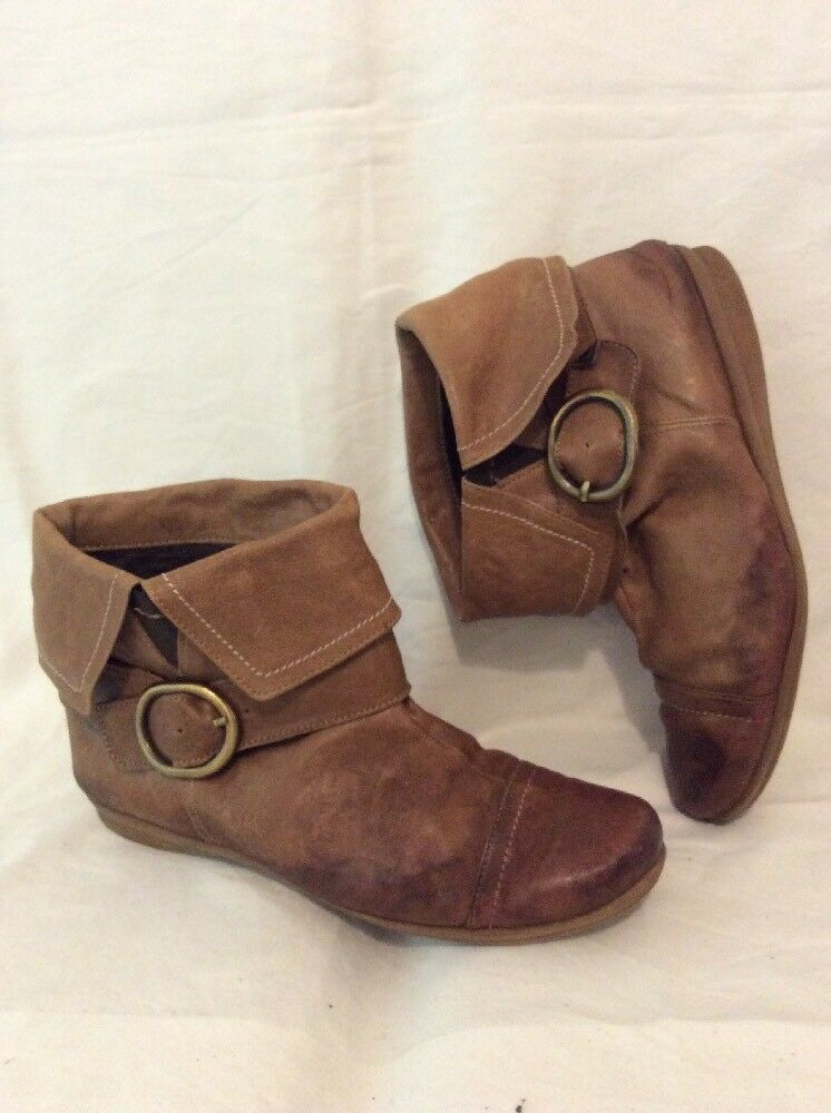 X-tra Brown Ankle Leather Boots Size 41