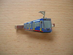 8025 Bahn Lok Zug Krawattenklammer Triebwagen ICE silberfarben silver DB Art