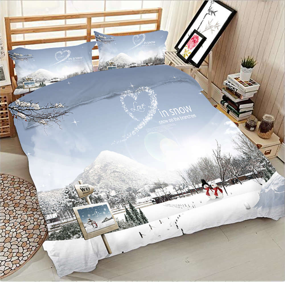 Snow Ice World 3D Printing Duvet Quilt Doona Covers Pillow Case Bedding Sets