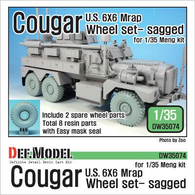 1:35 French VAB 6X6 Troop Transporter Sagged Wheel set DEF.MODEL,DW3068