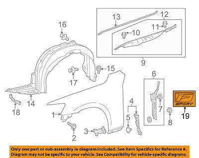GENUINE LEXUS IS250 IS350 2014 FRONT RH /& LH FENDER EMBLEM BADGE OEM 7536153030