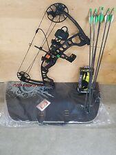 NIB! Hoyt Archery IGNITE Compound RH BLACK 1 25in Adj on Bow 10-70# Full Package