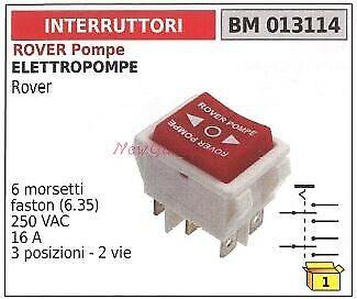 Interruttore ROVER POMPE motore elettropompa rover 013114
