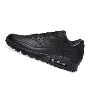 the best attitude c5caf 5623b Details about NIKE MENS Air Max 90 Leather - Black - 302519-001