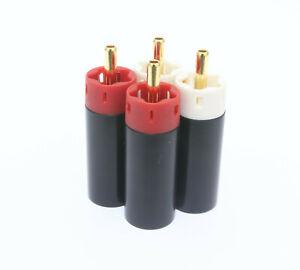 4pcs Star Line Tellurium Copper RCA Plugs connectors 2 Pair