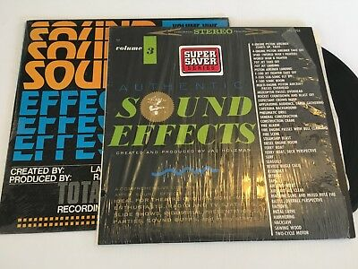 Sound Effects Vol 3 And 9 Both Record Lp Original Vinyl