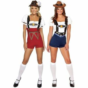 Image is loading OKTOBERFEST-Red-Or-Blue-Beer-Girl-German-Barmaid-  sc 1 st  eBay & OKTOBERFEST Red Or Blue Beer Girl German Barmaid Costume Womens ...