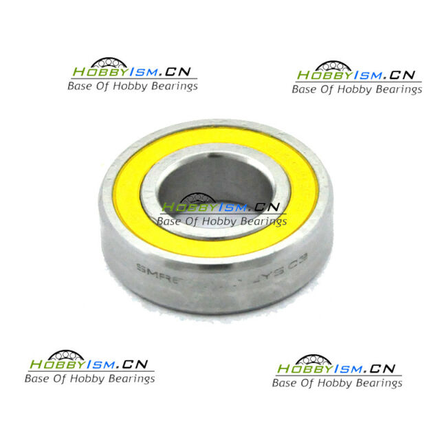 15x24 x5 mm Hybrid Ceramic Yellow BIKE BEARING  S6802  ABEC-5 NYLON CAGE 61802