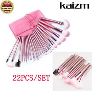 22Pcs-Pro-Makeup-Brushes-Powder-Foundation-Eyebrow-Brushes-With-Bag-Use-Pink-BI