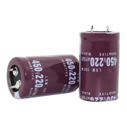 2pcs 30x30mm 220UF 450V Metal Aluminum Electrolytic Capacitors for Circuits #UK